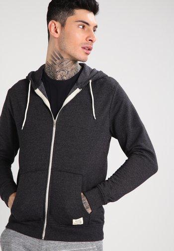 REGULAR FIT - Zip-up sweatshirt - charcoal
