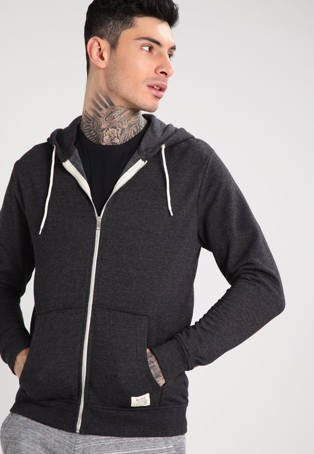 REGULAR FIT - veste en sweat zippée - charcoal