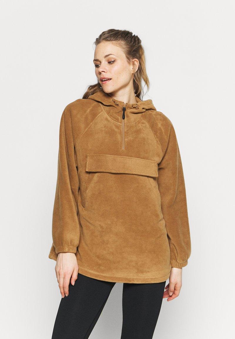 ARKET - POLAR FLEECE ANORAK - Treningsjakke - brown