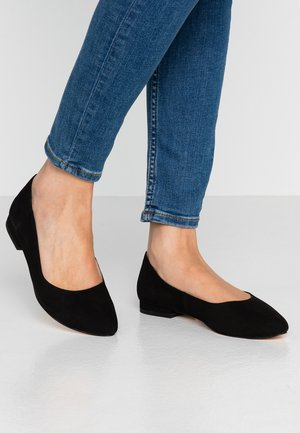LEATHER BALLERINAS - Ballerina - black