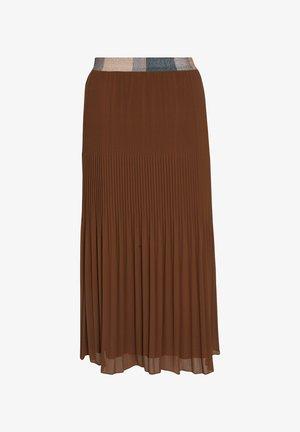 VOILE - Pleated skirt - caramel