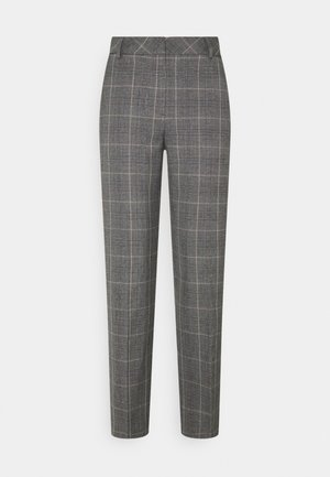 SLFEMILO CROPPED PANT CHECK - Stoffhose - medium grey melange