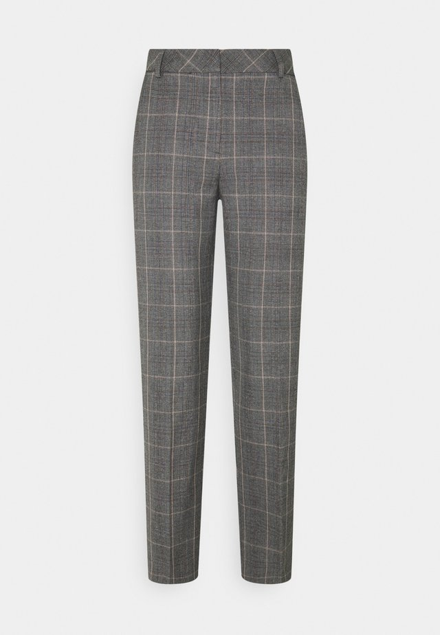 SLFEMILO CROPPED PANT CHECK - Pantaloni - medium grey melange