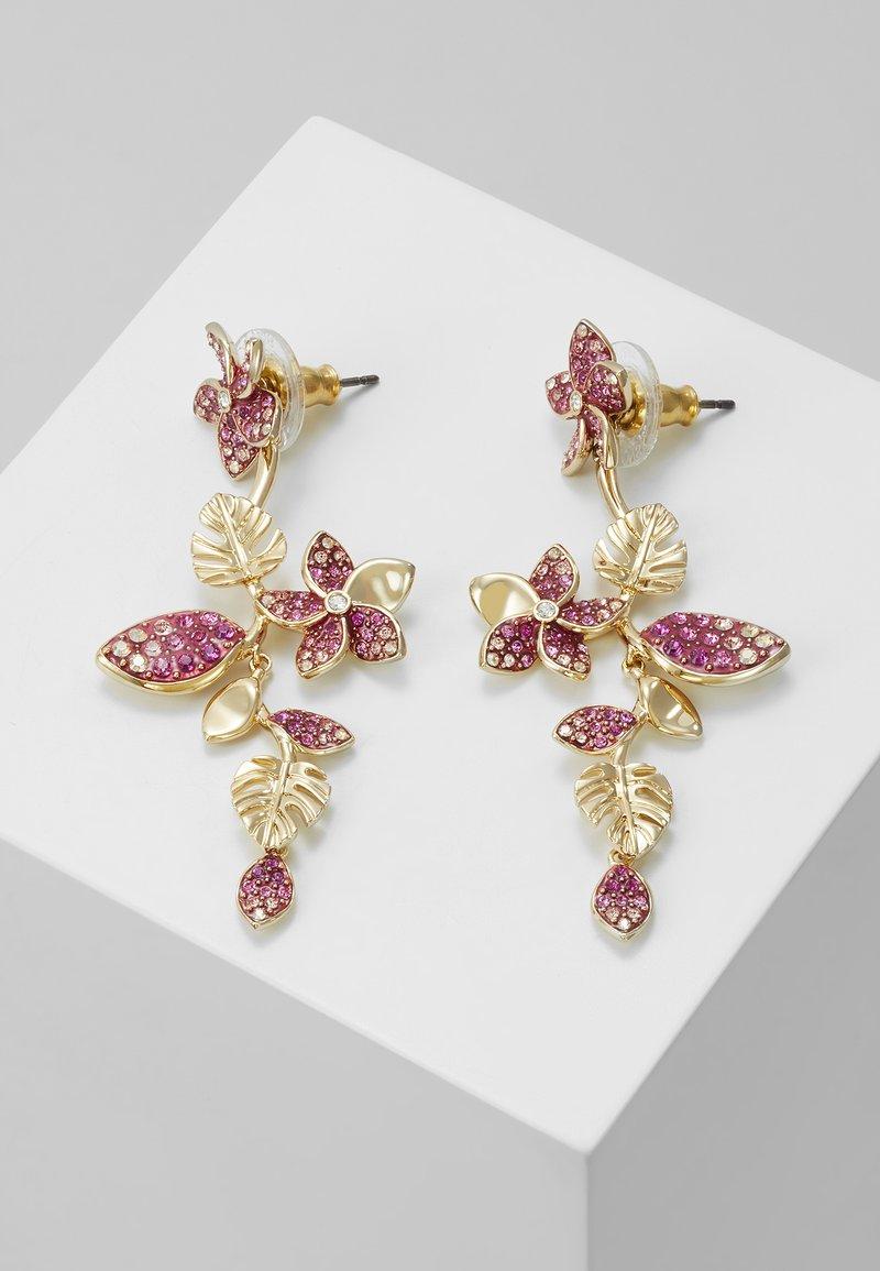 Swarovski - TROPICAL LONG FLOWER - Earrings - gold-coloured