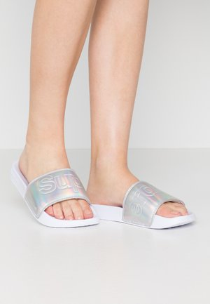 Pool slides - silver holographic