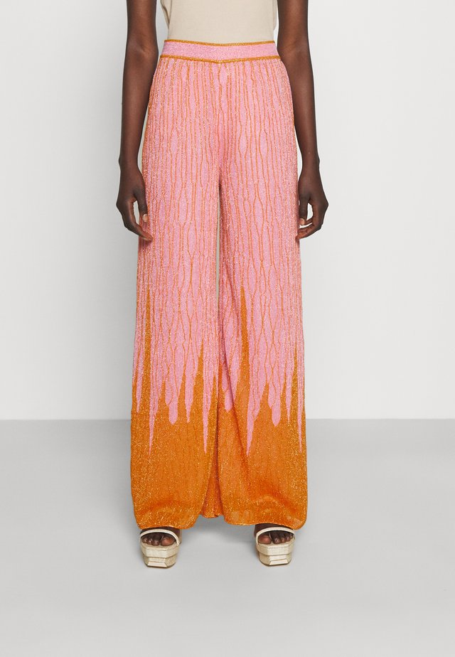 TROUSERS - Trousers - candy/pumpkin