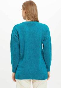 DeFacto - TUNIC - Langærmede T-shirts - turquoise - 2