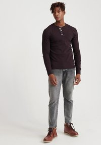 Superdry - MIT LANGEN ÄRMELN  - Långärmad tröja - burgundy - 1