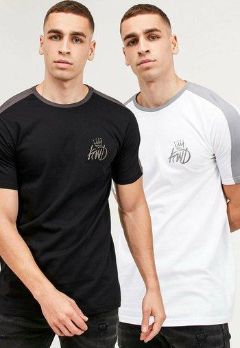 WEXFORD 2 PACK - Print T-shirt - white/black