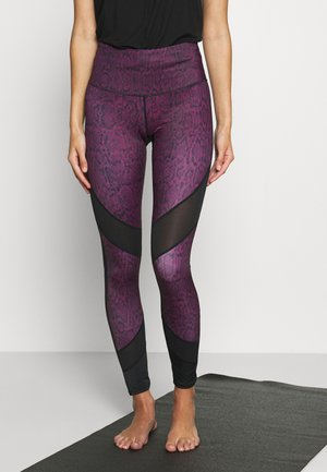 LEGGING CROPPED SNAKE - Punčochy - purple