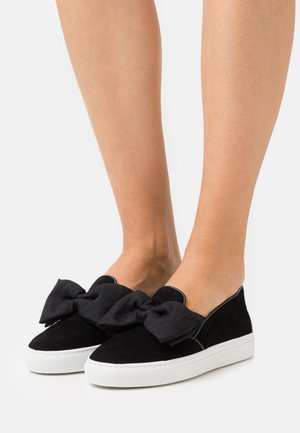 FRANÇOIS BOW SLIP ON - Slippers - black