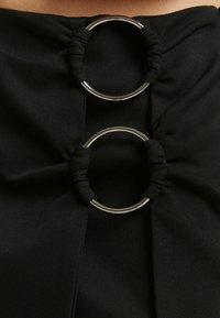 Bershka - A-line skirt - black - 4