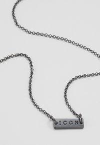 Icon Brand - PINSTRIPE NECKLACE - Necklace - gunmetal - 2