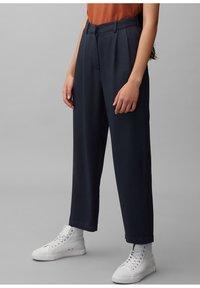 Marc O'Polo DENIM - PAPERBAG - Trousers - scandinavian blue - 0