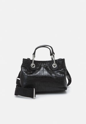 MY XS CROCO - Handtasche - black