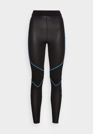 WOMENS LOGO KNIT LEGGINGS - Leggings - Trousers - black