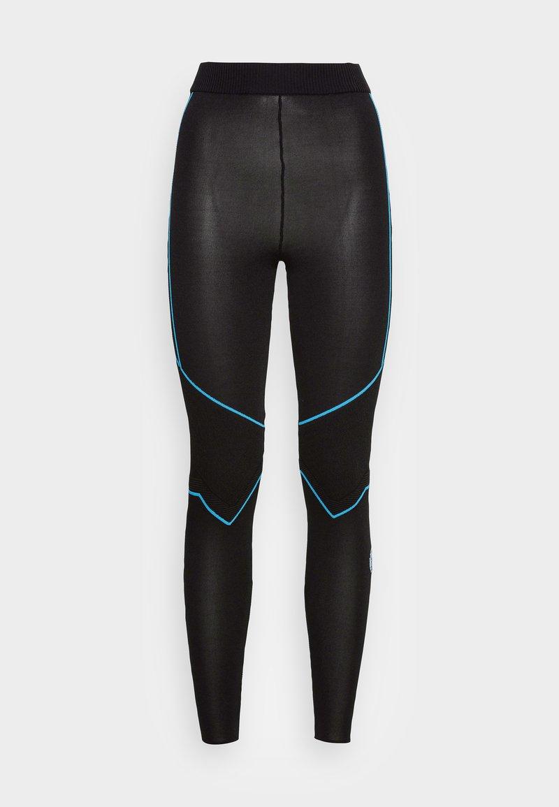MCM - WOMENS LOGO KNIT LEGGINGS - Leggings - Trousers - black