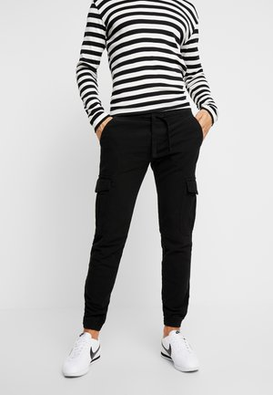 SPORTY  - Cargo trousers - black
