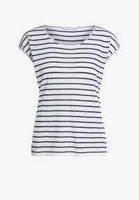 Oui - Print T-shirt - white blue - 4