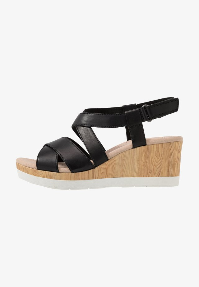 CAMMY BLOSSOM - Korkeakorkoiset sandaalit - black