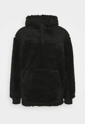 ALEX PILE HOODIE UNISEX - Fleece jumper - black