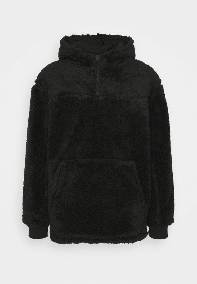 ALEX PILE HOODIE UNISEX - Fleece trui - black