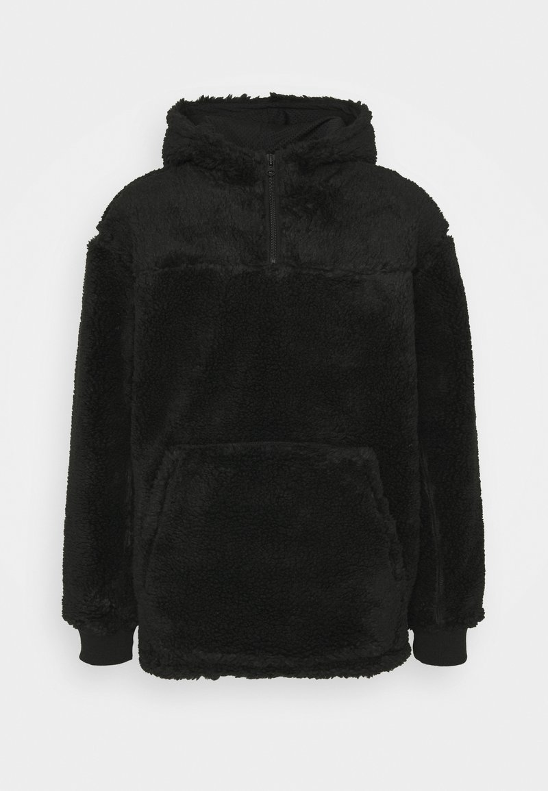 Weekday - ALEX PILE HOODIE UNISEX - Fleece jumper - black