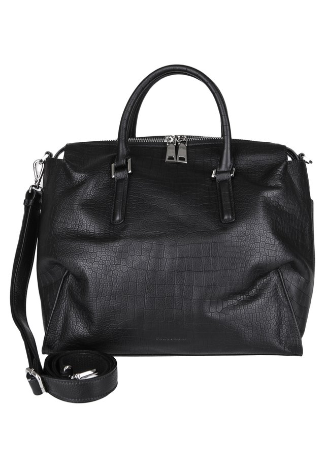 LEDERTASCHE TERRY KROKO - Across body bag - black