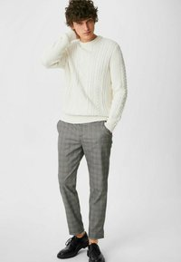 C&A - Trousers - black / white - 1