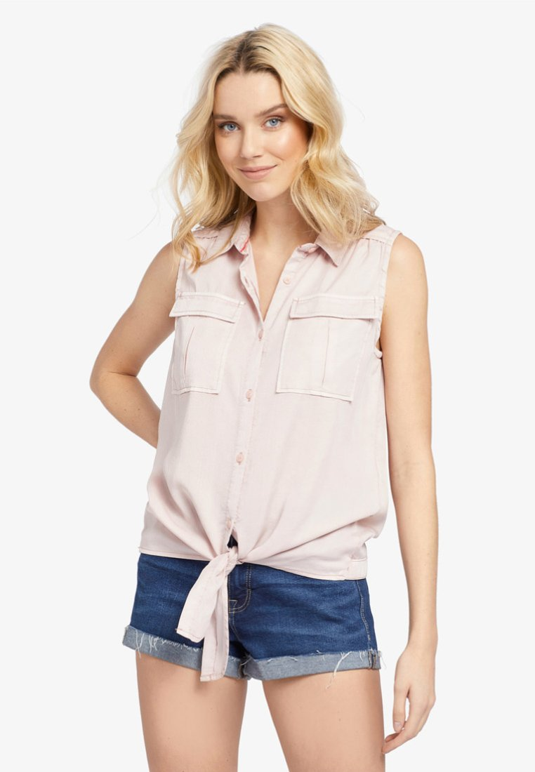 khujo - LANA - Button-down blouse - rose