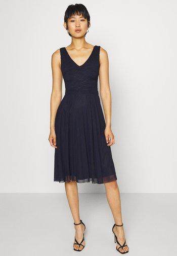 LACE V NECK OCCASION DRESS PURPLE POTION - Cocktail dress / Party dress - evening blue