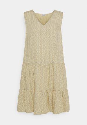 PRINTED VOLANT DRESS DOTS - Day dress - mustard yellow