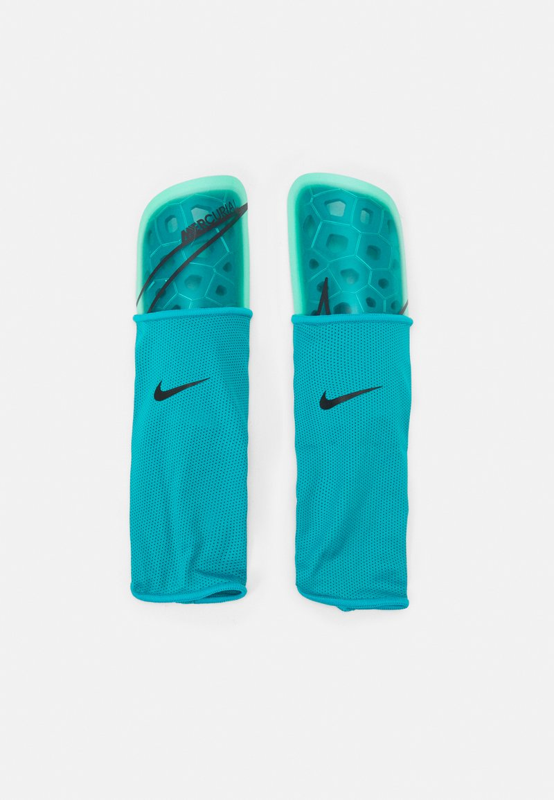 Nike Performance - MERCURIAL LITE - Shin pads - aquamarine/green glow/off noir