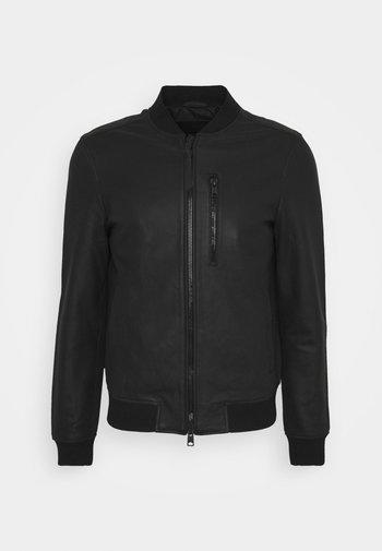 IVOR - Leather jacket - black
