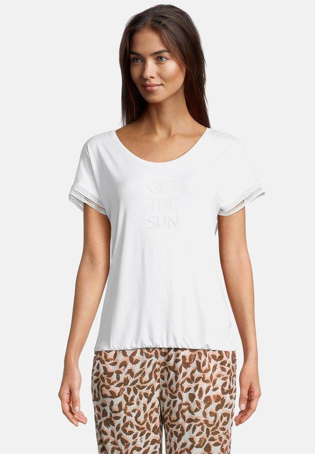 MIT AUFDRUCK - T-shirt imprimé - weiß