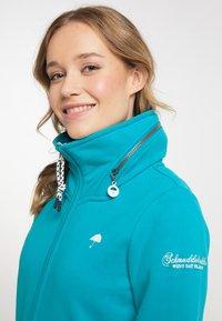 Schmuddelwedda - Zip-up sweatshirt - türkis - 3