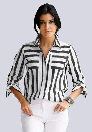 Button-down blouse - schwarz weiß