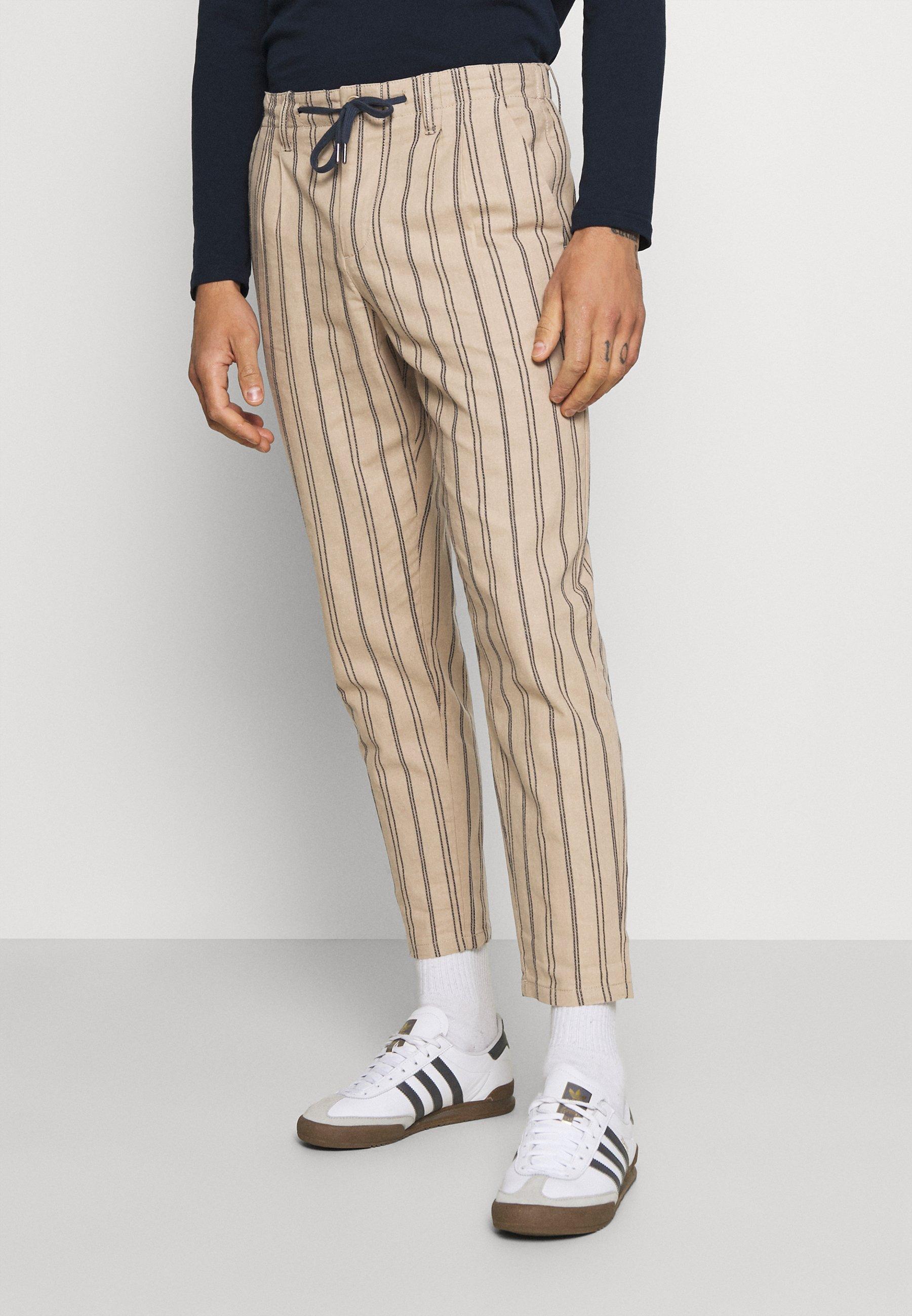 Uomo ONSLEOLIFE STRIPE MIX CROP - Pantaloni
