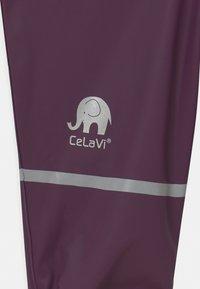 CeLaVi - BASIC RAINWEAR SOLID SET UNISEX - Regenbroek - blackberry wine - 4