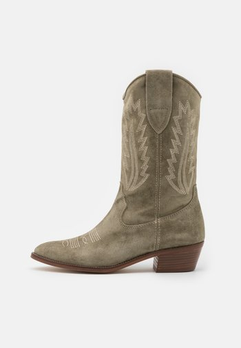 ROSE - Cowboy/Biker boots - army