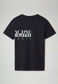 Napapijri - SALLAR LOGO - T-shirt med print - blu marine - 4