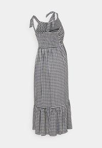 Ripe - GINGHAM NURSING DRESS - Denní šaty - black/white - 1