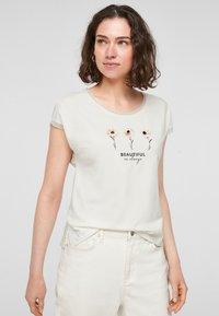 s.Oliver BLACK LABEL - T-shirt print - white placed print - 0