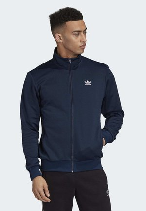 TREFOIL ESSENTIALS TRACK TOP - Felpa aperta - blue