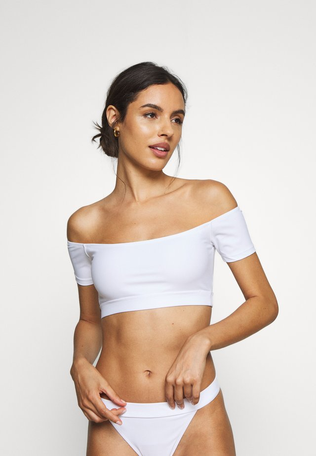 SANTORINI - Bikini pezzo sopra - white