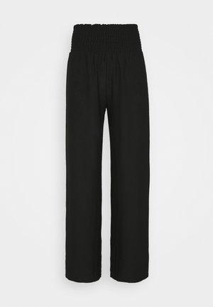 PCCURLI CROPPED PANTS TALL - Bukse - black