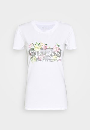 JANEL TEE - Camiseta estampada - true white