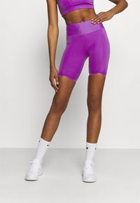 Nike Performance - ONE LUXE - Tights - wild berry/white - 0