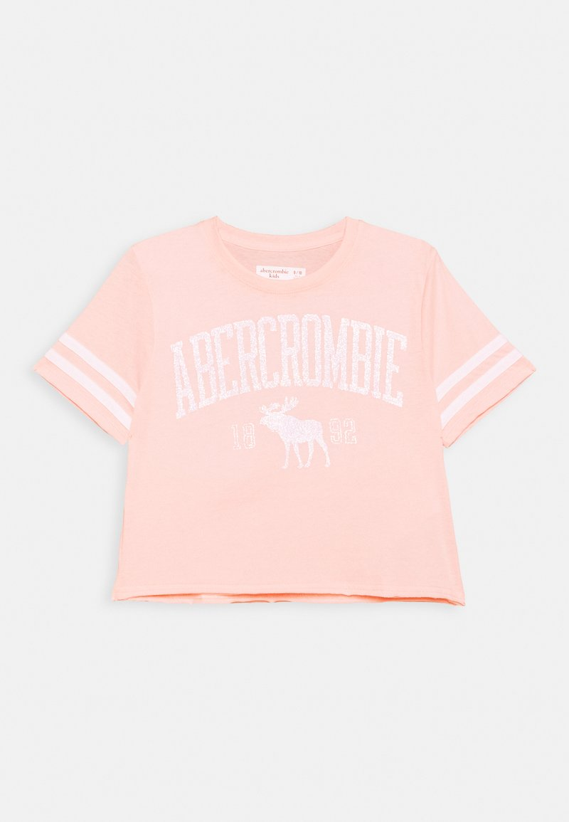 Abercrombie & Fitch - SHINE SPORTY TEE - Print T-shirt - pink