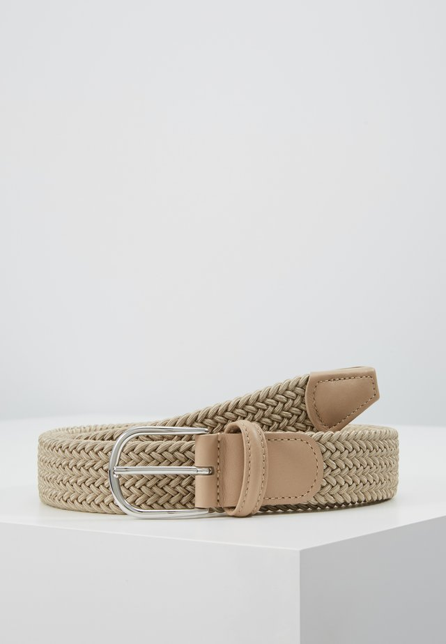 BELT - Braided belt - sand